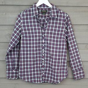 Eddie Bauer Detail Flannel Button Up Red Green (M)